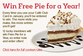 Win free pie for a year!