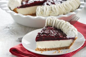 Cheese Pie with Marionberry topping Image
