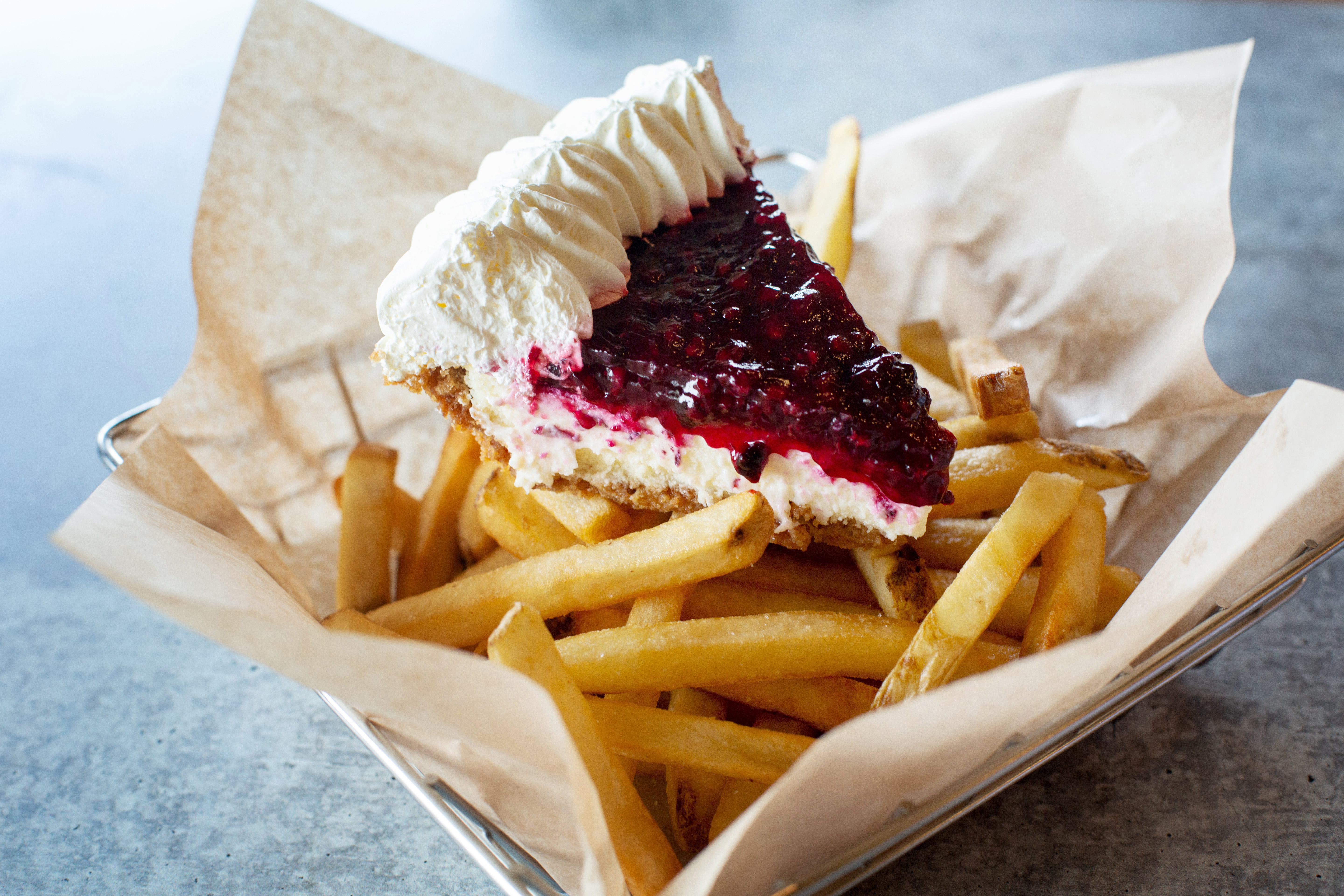 Shari's Fries on Pies. Celebrate national French Fry Day, Saturday 7/12/2019