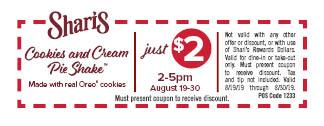 HP_SH Cookie Cream Pie Shake coupon
