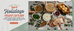 Home for the holidays holiday pies and feasts are here visit your local shari's to place your order or pre-order online starting 11/19