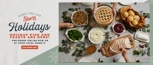 Home for the Holidays! Holiday pies and feasts are here! Pre-order today!